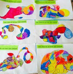 Proyecto infantil 4a Paul Klee, tiza mojada en agua y azúcar.