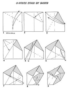 origami star of david diagrams - Google Search