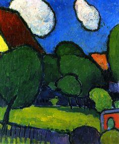artishardgr: Alexei Jawlensky - Big Clouds, Big Trees 1909