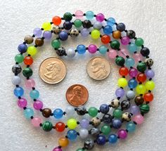 Navratan 9 Planets Hand Knotted 108 Mala Beads Necklace - Blessed Karm – AwakenYourKundalini