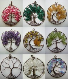 Hello everyone! First off, I want to apologize for not posting any of my usual things. I've been really focused on making these tree of life pendants. Tree of Life Pendant Collage 2 Wire Crafts, Bead Crafts, Jewelry Crafts, Jewelry Ideas, Handmade Jewelry, Wire Wrapped Jewelry, Wire Jewelry, Wire Bracelets, Beading Jewelry