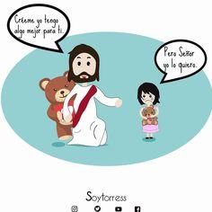 Él siempre tiene algo mejor... God Is Amazing, God Is Good, Christian Images, Christian Quotes, Christian Life, God Loves You, Jesus Loves, Names Of God, Biblical Quotes