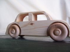 Big Wheel Toy Car Sedan Handmade from Upcycled by Tigerseyecrafts, $15.00