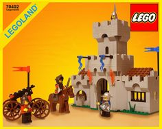 Legoland castle kits moved to grey bricks, after the initial yellow brick castle kits had started the line. Lego Card, Lego System, 1980s Toys, Lego Castle, Lego Room, Vintage Lego, Cool Lego Creations, Lego Bionicle, Lego Models