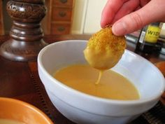 4 home-made mustard-dipping