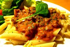 Spicy Sausage With Creamy Penne Pasta Recipe