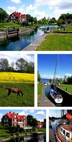 Göta Kanal, Sweden. Someday I'm taking that boat trip!  Sweden Travel  Access Our Site Much More Information   https://storelatina.com/sweden/travelling  #스웨덴 #Швед #سوئيڊن #recipes