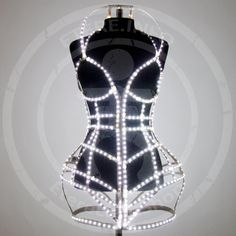 LED light up cage fashion dress