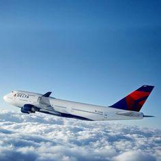 DELTA 747. flown in this.