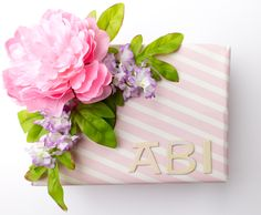 Bridal shower gift wrap idea! Learn how to wrap a gift for a wedding, bridal shower, birthday, Mother's Day, or any other special event! lovelylittleobsessions.com