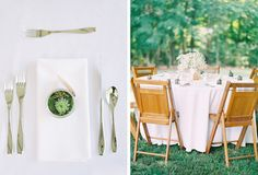 succulent favors, wooden chairs, wedding reception