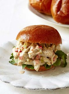 Crab Salad Sandwich by Giada De Laurentiis | When it's too hot to make crab cakes, this makes a very delectable alternative that also happens to be lighter and less oily and bready. Serve the salad on lettuce leaves if you'd rather skip the roll.
