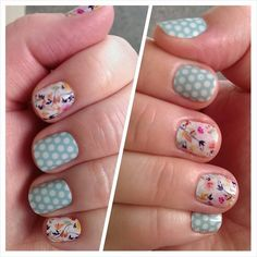 Sunday Brunch and Teal & White Polka Jamberry nail wraps, Buy 3 get 1 free! To order: eneason.jamberrynails.net