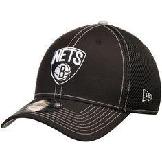 half off 9fa2b 19011 Men s New Era Black Brooklyn Nets Crux Line Neo 39THIRTY Flex Hat