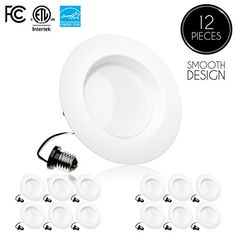 Parmida (12 Pack) 5/6 inch Dimmable LED Downlight, 15W (120W Replacement),EASY INSTALLATION, Retrofit LED Recessed Lighting Fixture, 5000K (Day Light), 1100Lm, ENERGY STAR & ETL, LED Ceiling Can Light #Parmida #Pack) #inch #Dimmable #Downlight, #Replacement),EASY #INSTALLATION, #Retrofit #Recessed #Lighting #Fixture, #(Day #Light), #ENERGY #STAR #ETL, #Ceiling #Light