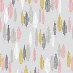 grey 'Leaf Line-up' pink leaves pattern Cloud 9 organic coton fabric 1 Cloud 9, Fabric Design, Pattern Design, Textile Design, Pink Leaves, Modes4u, Textiles, Kawaii, Coton Biologique