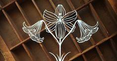 Scherenschnitte: Template Tuesday - Easter Lilies