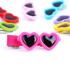 Hot sale fashion pet scouring pet accessories hair clips sunglasses Free Shipping