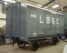 """LBSCR 6 ton Box Van No 8196 - Built by the LBSCR in 1913, No.8196 was of 8-ton capacity, a tare weight of 6 tons 10 cwt and 21'4"""" long. It was built to LBSCR Diag.8, which became SR Diag.1433. Renumbered by the Southern Railway as No.46544, it was withdrawn on 5th May 1943"""