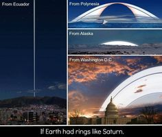 Funny pictures about If Earth had rings like Saturn. Oh, and cool pics about If Earth had rings like Saturn. Also, If Earth had rings like Saturn. Saturn Ring, Saturn Sky, Ecuador, Washington Dc, Cosmos, Alaska, Space And Astronomy, Our Solar System, To Infinity And Beyond