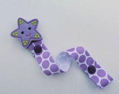 Estrella púrpura chupete Clip bebé chupete Clip, Binkie Clip, Clip de bebé, accesorios de bebé, regalo del bebé
