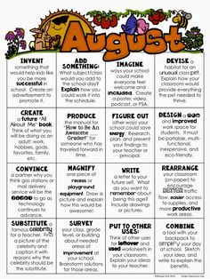 August Choice Boards for Early Finishers - Free Download through Blog Post!