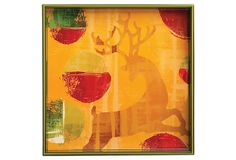 "Dancing Reindeer Square Tray, 15"" on OneKingsLane.com"