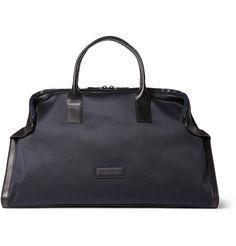 Alexander McQueen De Manta Nylon and Leather Holdall Bag