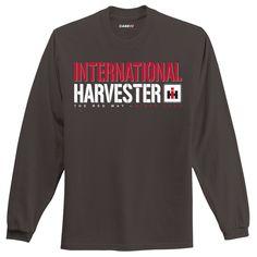 "International Harvester /""The Red Way/"" Heather Charcoal Men/'s Pocket T-Shirt"