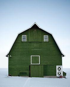 Green barn.
