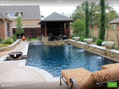 Dry Stack – Custom Swimming Pool – North Richland Hills, TX – traditional – pool – dallas – One Specialty, Concrete, Xte… – pool ideas Small Swimming Pools, Luxury Swimming Pools, Luxury Pools, Small Pools, Swimming Pools Backyard, Dream Pools, Swimming Pool Designs, Lap Pools, Pool Decks