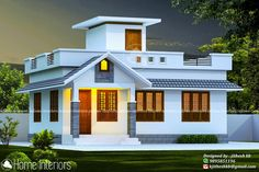 2bhk House Plan, Model House Plan, Bungalow House Plans, Small House Plans, House Roof Design, Simple House Design, Bungalow House Design, Home Design, Low Budget House