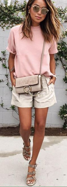 #sincerelyjules #spring #summer #besties | Pink + Beige                                                                             Source