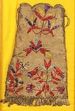 Native American Quilled Hide Bag