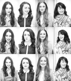 Khaleesi, Arya, Sansa and Cersei