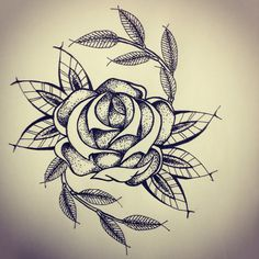 New Traditional Rose tattoo sketch by - Ranz