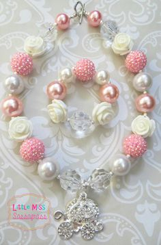 Princess+Carriage+Chunky+Bubblegum+Necklace+by+lilmisssassafras,+$25.00