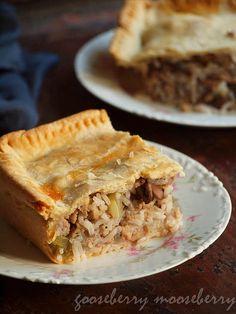 Savory Pie with Meat, Rice, and Mushrooms {Via @Fiona I Like Gooseberries mooseberry}