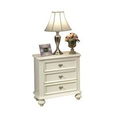 Athena White Finish Nightstand   Overstock.com Shopping - The Best Deals on Kids' Nightstands