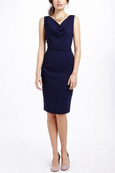 anthropologie Cate Pencil Dress such an elegant front and classy back