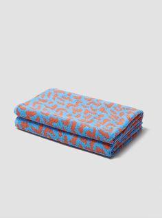 It Bath Towel Blue & Cinnamon