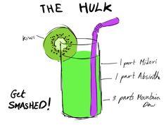 #Avengers-themed #Cocktail Recipes The #Hulk