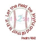 Baseball Psalm Applique with verse