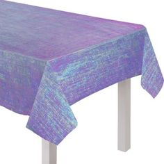 Celebrate with an elegant display with a Sparkling Sapphire Opalescent Table Cover! This table cover features paper underneath plastic with iridescent fibers, so it looks magical. Halloween Costume Shop, Halloween Party Decor, Sweet 16, Purple Party Decorations, Purple Birthday, Personalized Party Favors, Kids Party Supplies, Table Covers, Sapphire
