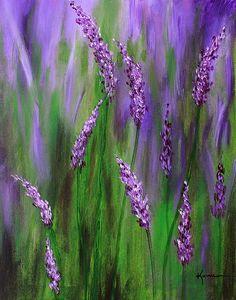 Lavendar Garden by Kume Bryant #painting #lavendar #garden