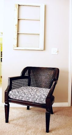 DIY chair makeover tutorial –$8 thrift store find