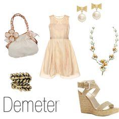 fashion inspired by greek mythology | Character Inspired Fashion - Demeter