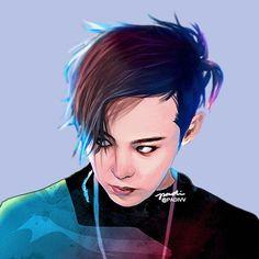G Dragon Top, Dragon Art, Vip Bigbang, Daesung, Bigbang G Dragon, Kpop Drawings, Rap Lines, Anime Version, Draw On Photos