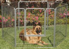 Portable Indoor/Outdoor Kennel Exercise Pen Dog Run Fence