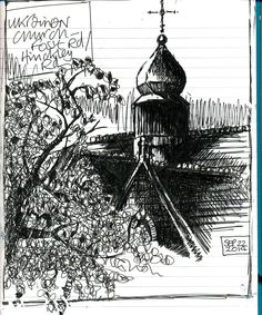 Sketch of Ukrainian church, Hinckley Rd/Fosse Rd Leicester by Mick Savage…